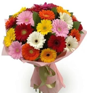 Karışık büyük boy gerbera çiçek buketi  Tekirdağ ucuz çiçek gönder