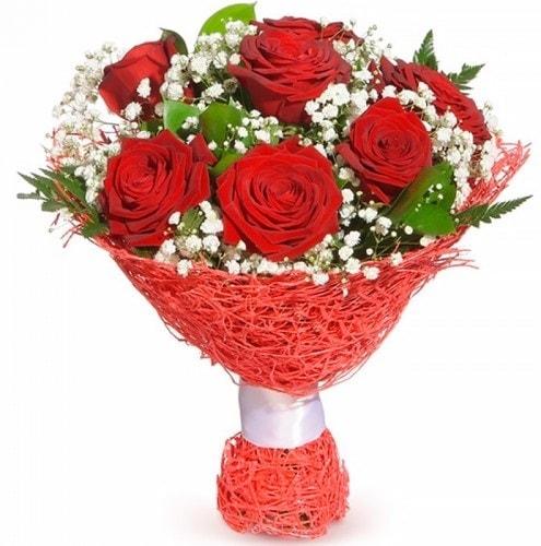 7 adet kırmızı gül buketi  Tekirdağ çiçek siparişi vermek